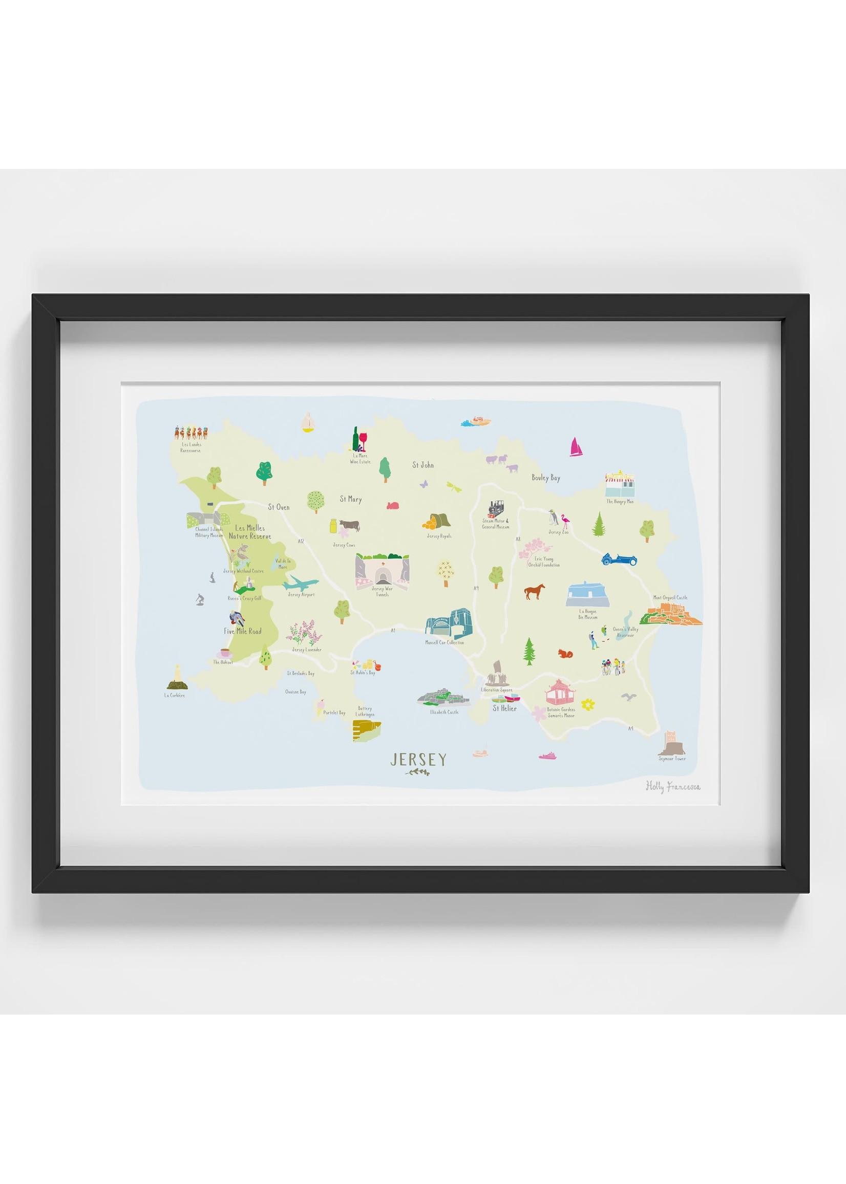 Holly Francesca Holly Francesca Map of Jersey A4