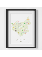 Holly Francesca Map of Leicestershire A4
