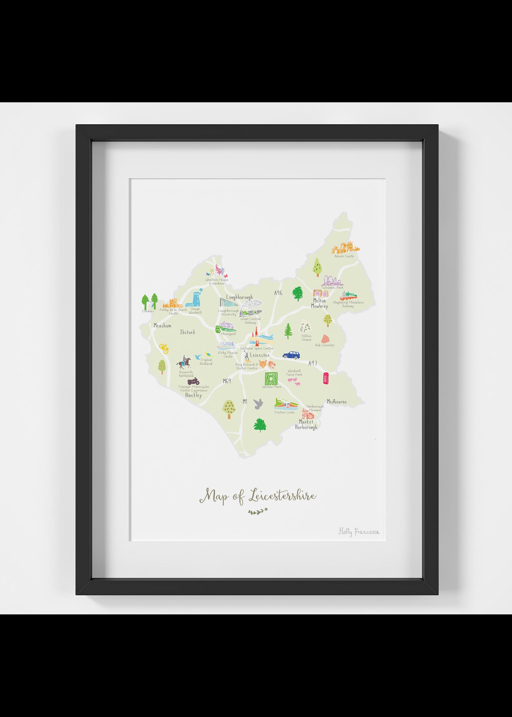 Holly Francesca Holly Francesca Map of Leicestershire A4