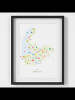 Holly Francesca Map of Merseyside A4