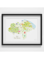 Holly Francesca Map of North Yorkshire A4