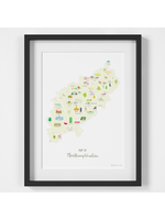Holly Francesca Map of Northamptonshire A4