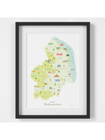 Holly Francesca Map of Northumberland A4