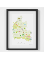 Holly Francesca Map of Oxfordshire A4