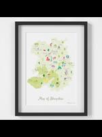 Holly Francesca Map of Shropshire A4