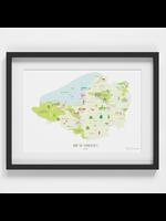 Holly Francesca Map of Somerset A4