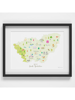 Holly Francesca Map of South Yorkshire A4