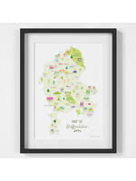 Holly Francesca Map of Staffordshire  A4