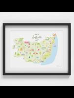 Holly Francesca Map of Suffolk  A4
