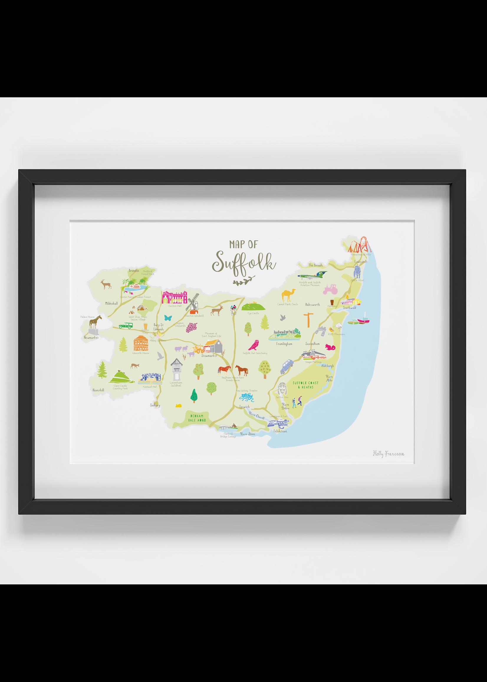 Holly Francesca Holly Francesca Map of Suffolk  A4