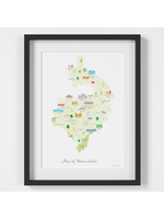 Holly Francesca Map of Warwickshire A4