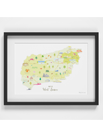 Holly Francesca Map of West Sussex A4