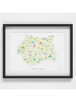 Holly Francesca Map of West Yorkshire A4