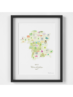 Holly Francesca Map of Worcestershire A4