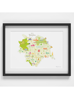 Holly Francesca Map of Yorkshire A4