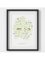 Holly Francesca Map of the Lake District A4
