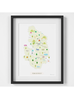 Holly Francesca Map of the Peak District A4