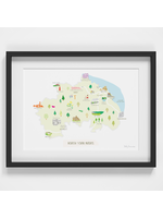 Holly Francesca Map of the North York Moors A4