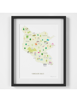 Holly Francesca Map of the Yorkshire Dales A4