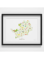 Holly Francesca Map of Hertfordshire A4