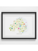 Holly Francesca Map of Northern Ireland A4