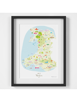 Holly Francesca Map of Wales A4