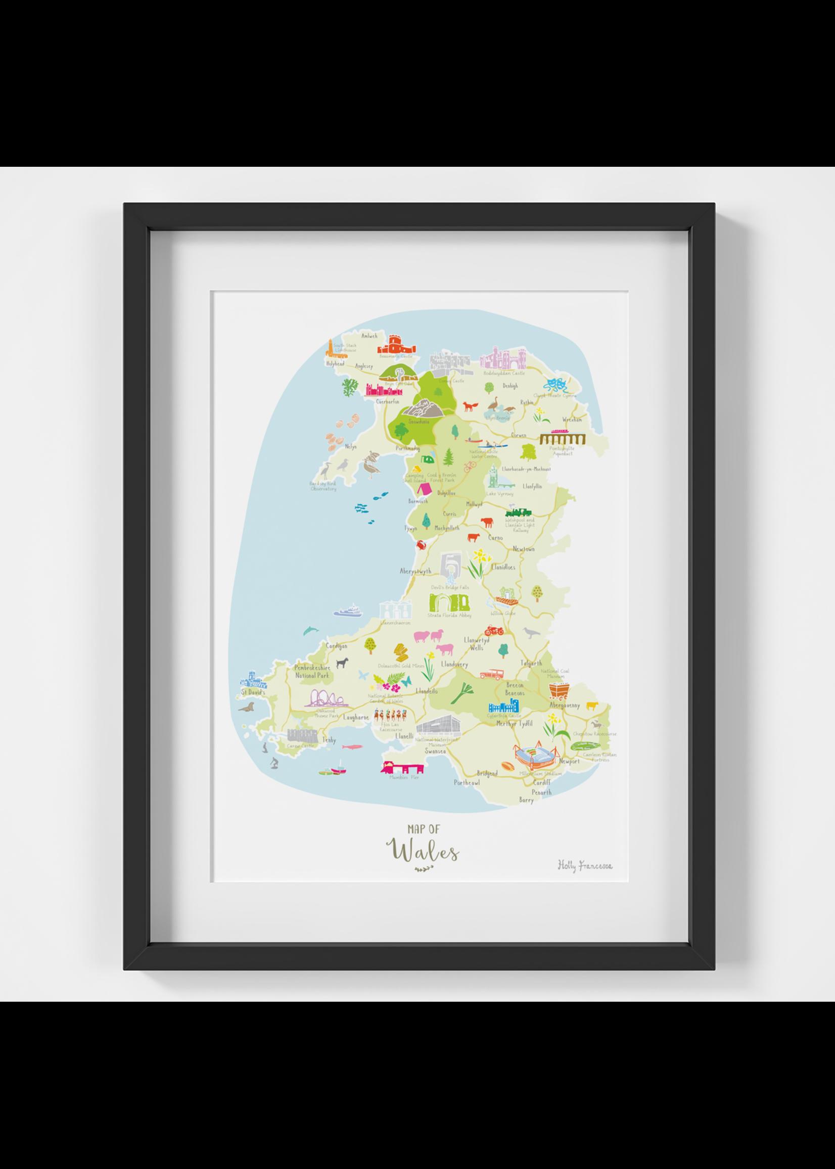 Holly Francesca Holly Francesca Map of Wales A4