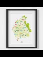 Holly Francesca Map of Cumbria A4