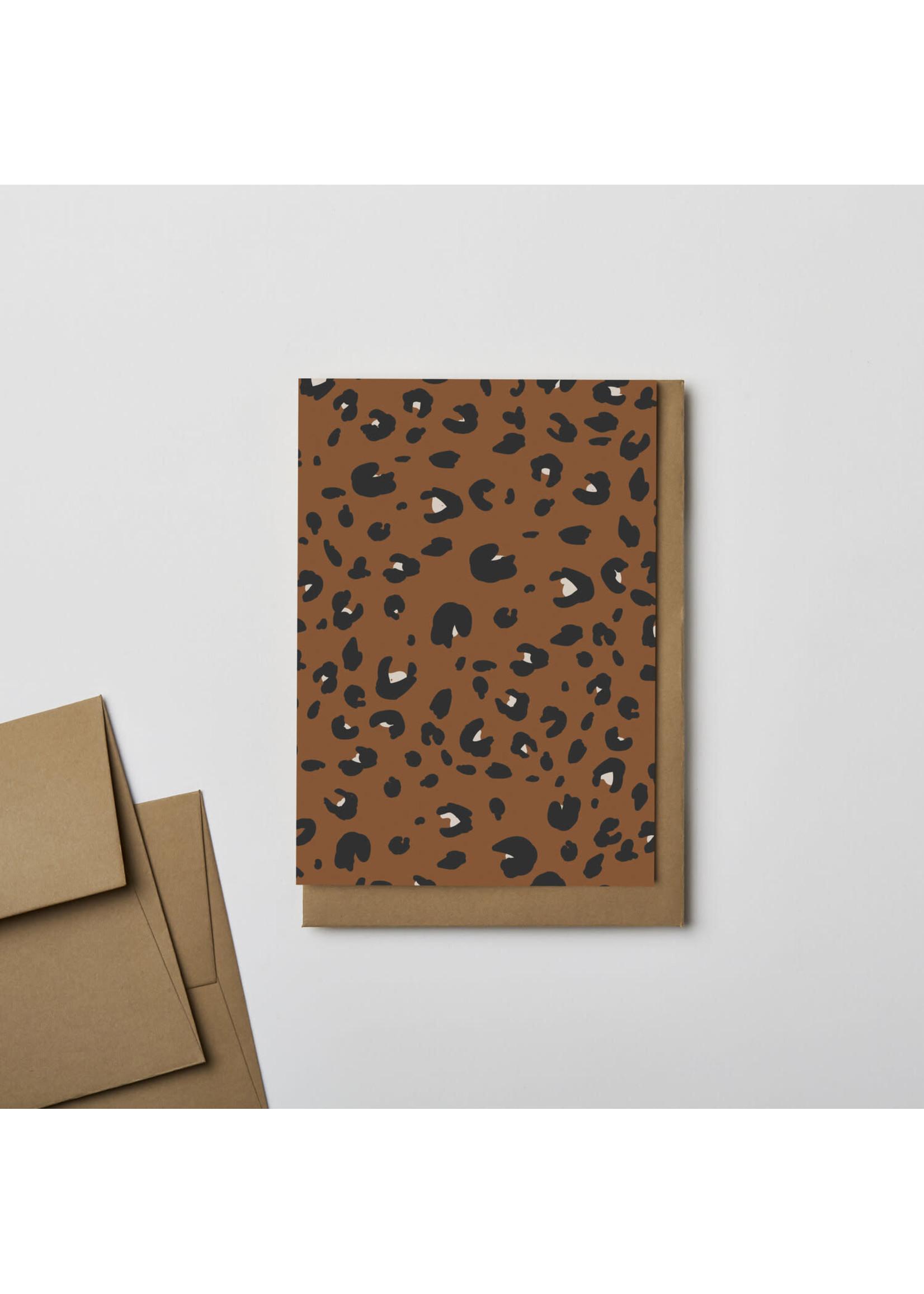 Kinshipped Kinshipped Leopard Notecard - Rust