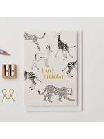 Kinshipped Happy Birthday Animals Card