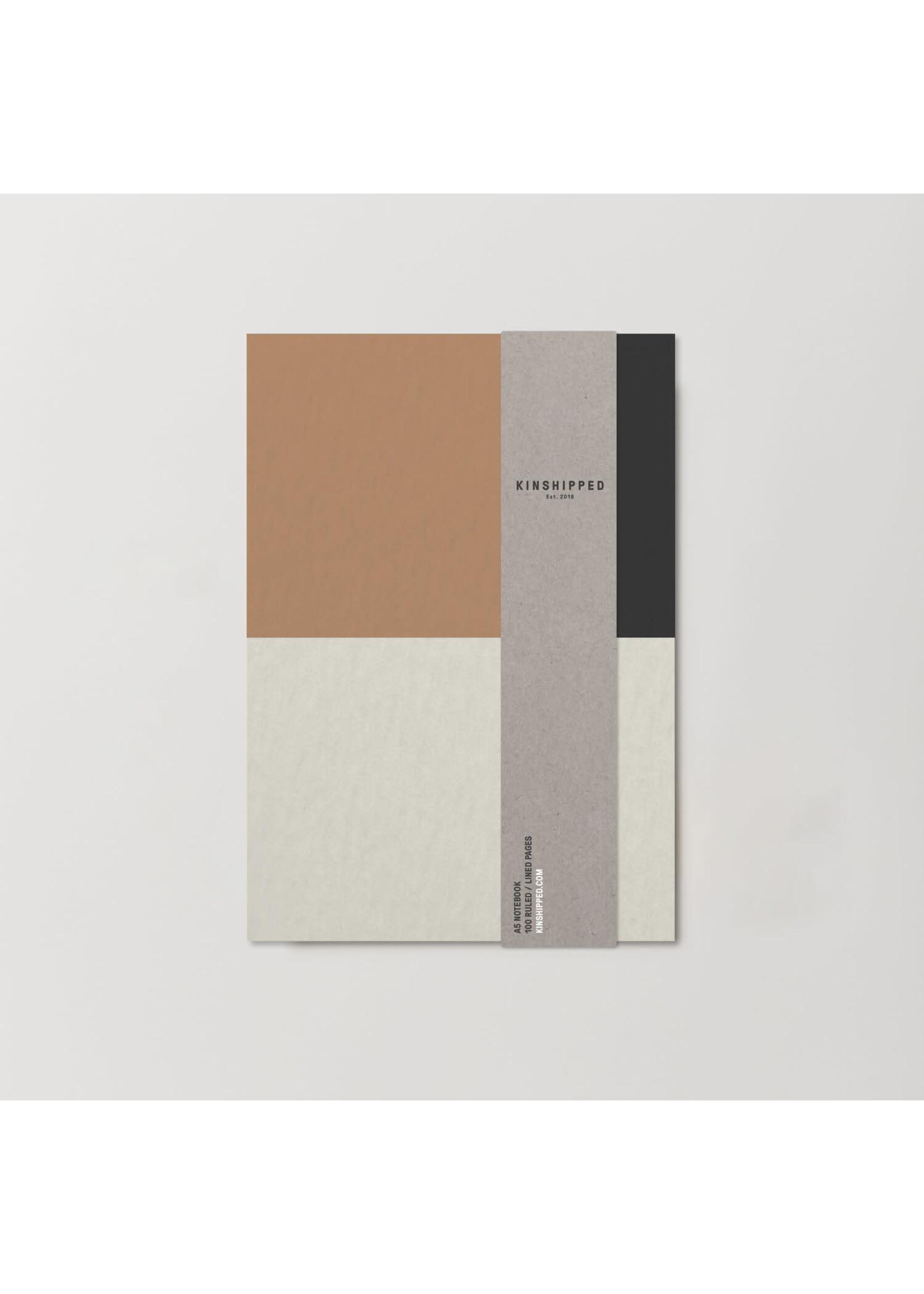 Kinshipped Kinshipped A5 Notebook - Colour Block Tan