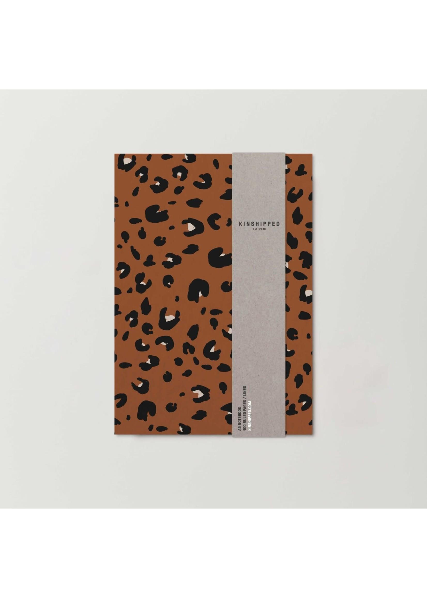 Kinshipped Kinshipped A5 Notebook - Cinnamon Leopard