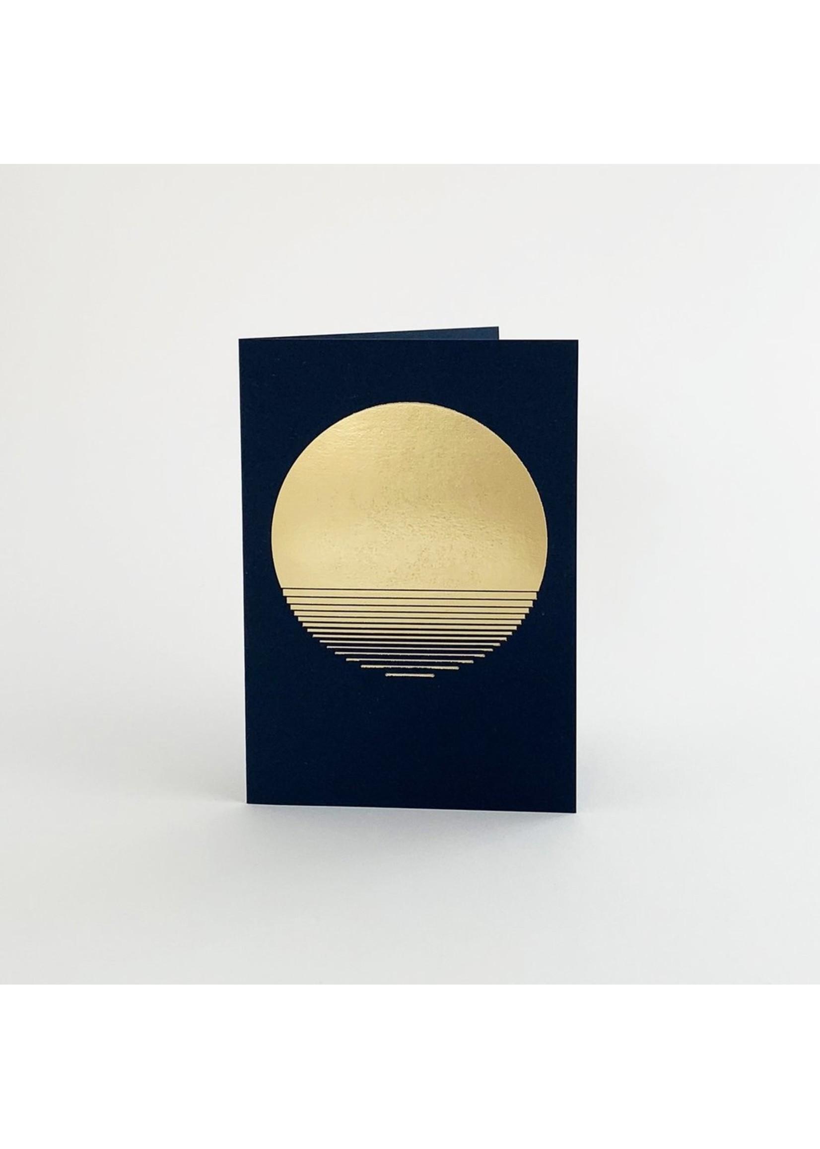 Tom Pigeon Tom Pigeon Sol Card - Brass/Navy