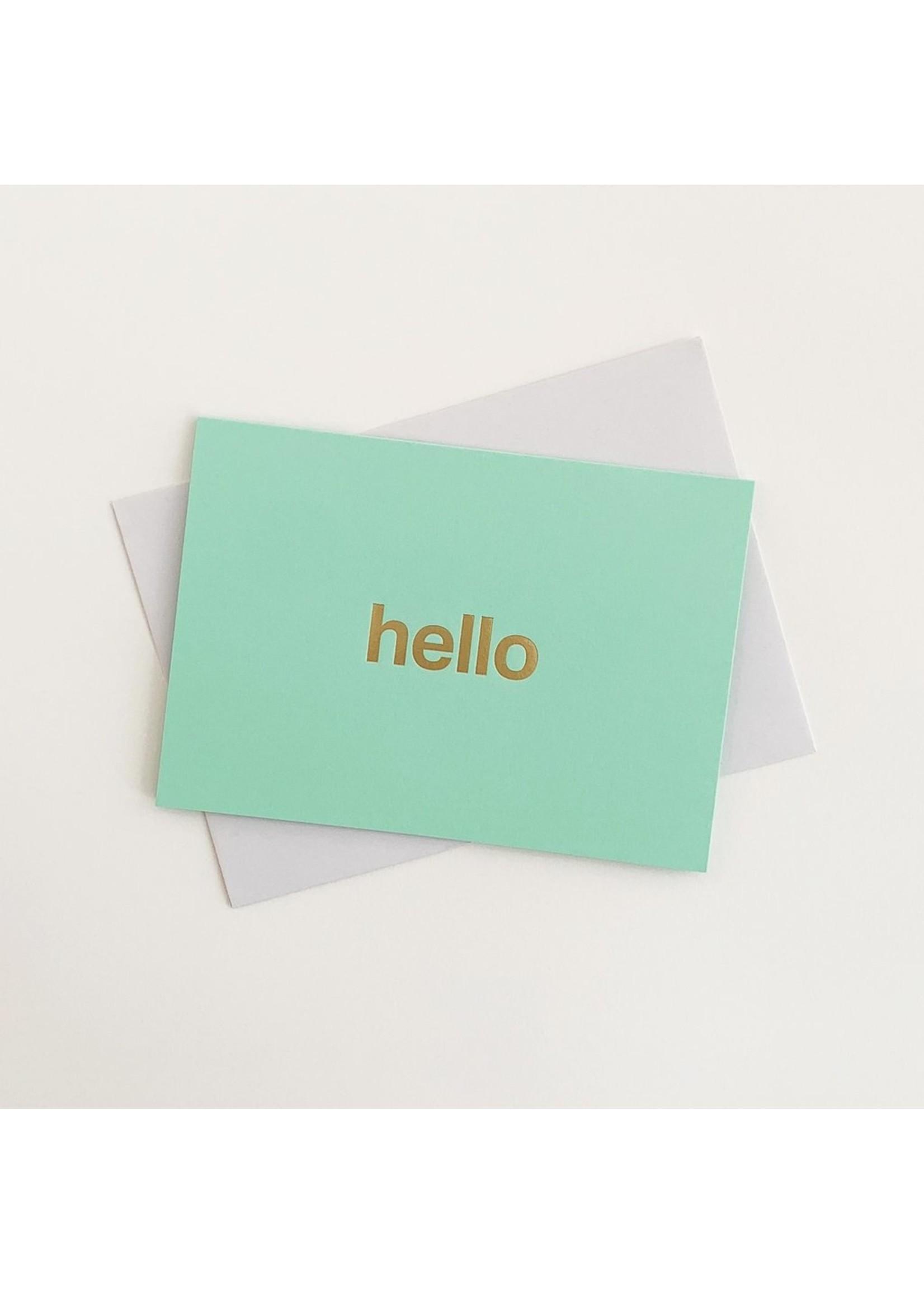 Tom Pigeon Tom Pigeon Hello Card - Mint/Brass