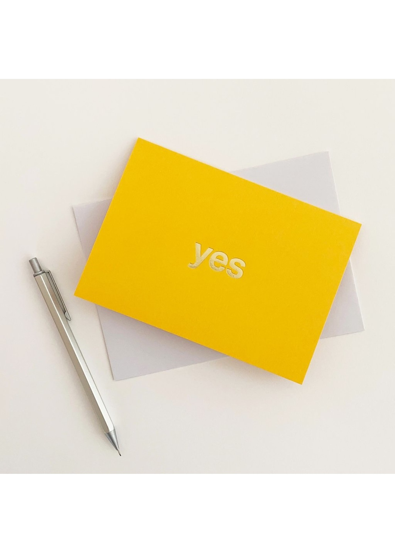Tom Pigeon Tom Pigeon YES Card - Yellow/Brass