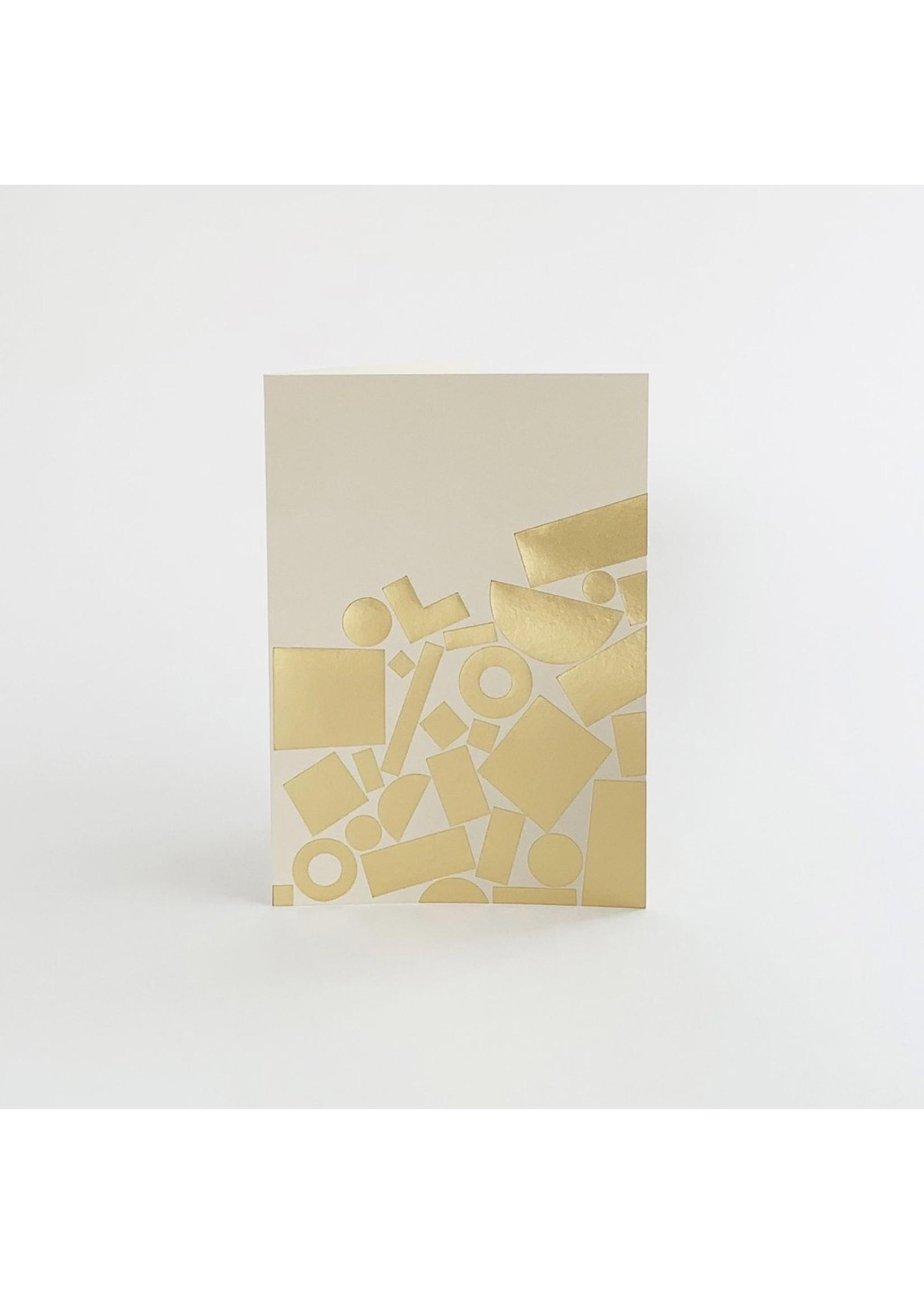 Tom Pigeon Tom Pigeon Stack Card - Brass/Mist