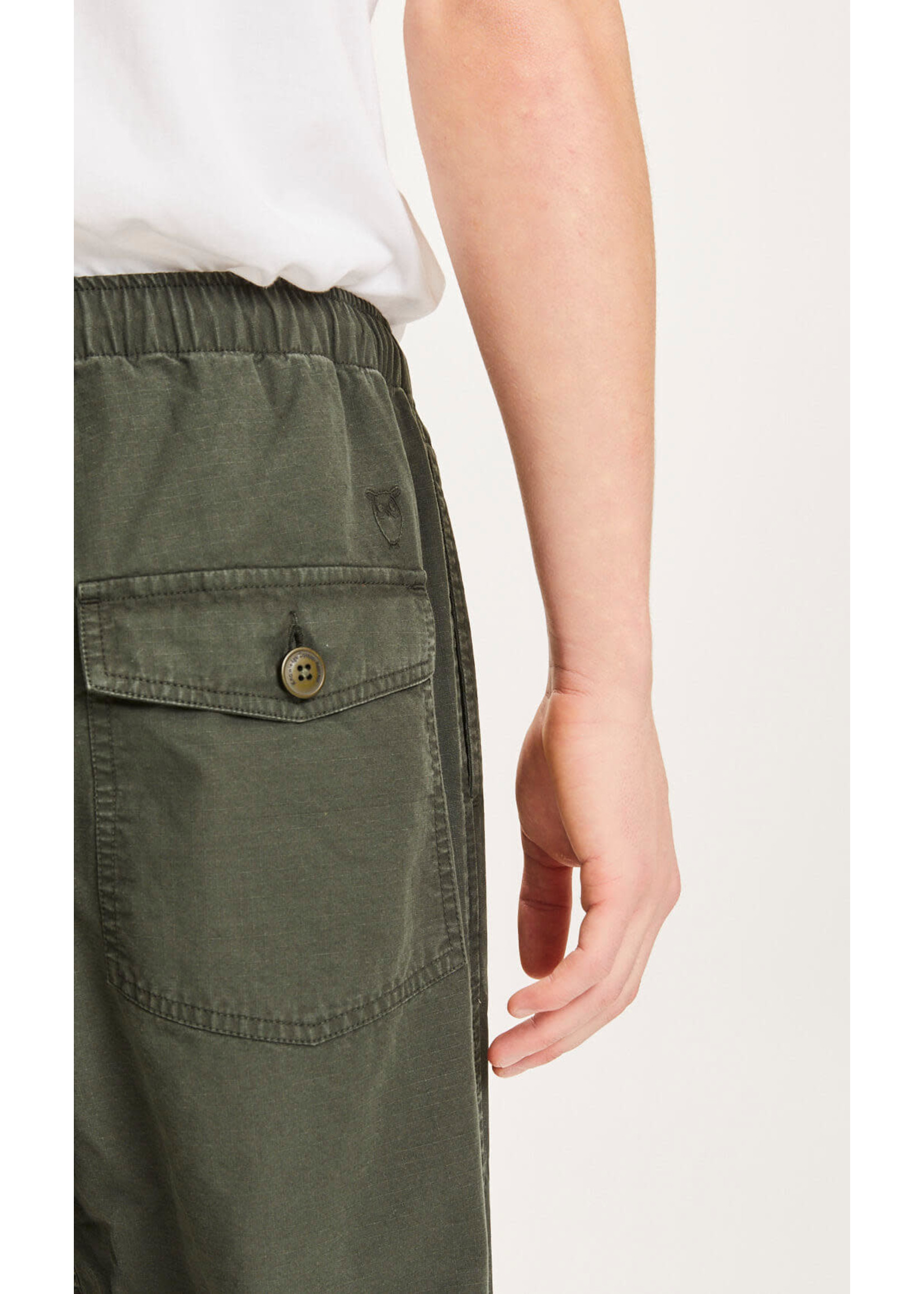 KnowledgeCotton KnowledgeCotton FIG loose rib-stop pant