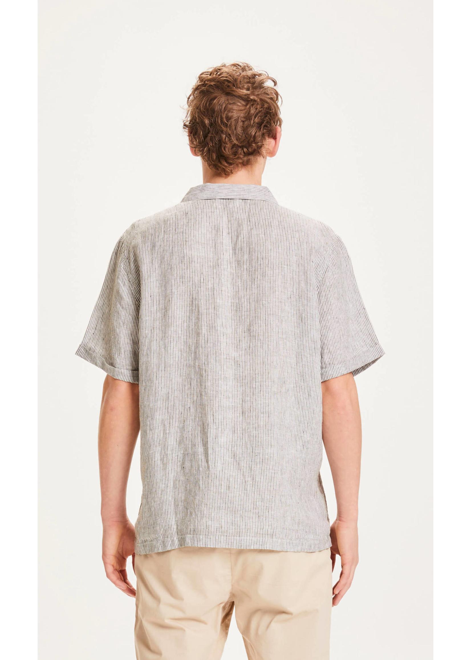 KnowledgeCotton KnowledgeCotton WAVE SS striped shirt