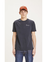 KnowledgeCotton ALDER trademark mountain back printed tee - Total Eclipse