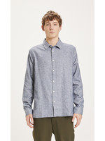 KnowledgeCotton LARCH casual fit heavy flannel shirt - Total Eclipse