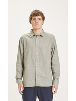 KnowledgeCotton LARCH casual fit heavy flannel shirt - Forrest Night