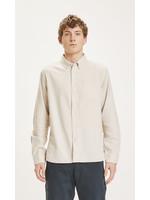 KnowledgeCotton ELDER regular fit melange flannel shirt - Greige