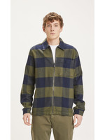 KnowledgeCotton Pine checked heavy flannel overshirt - Forrest Night