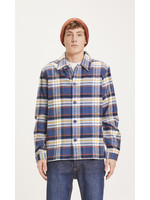 KnowledgeCotton Pine checked heavy flannel overshirt - Total Eclipse