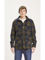 KnowledgeCotton Pine checked flannel overshirt - Forrest Night
