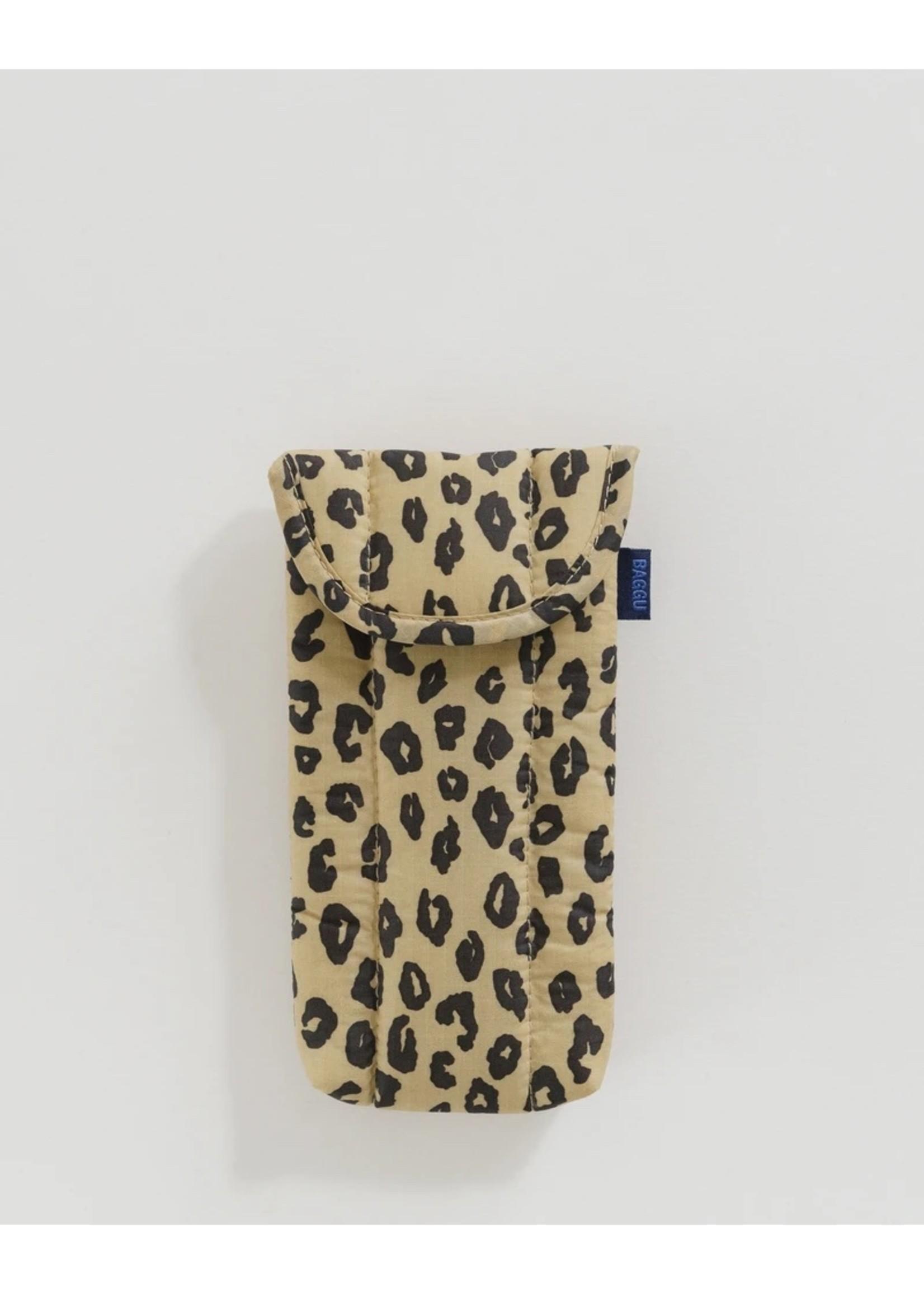 Baggu Baggu Puffy Glasses Sleeve - Honey Leopard