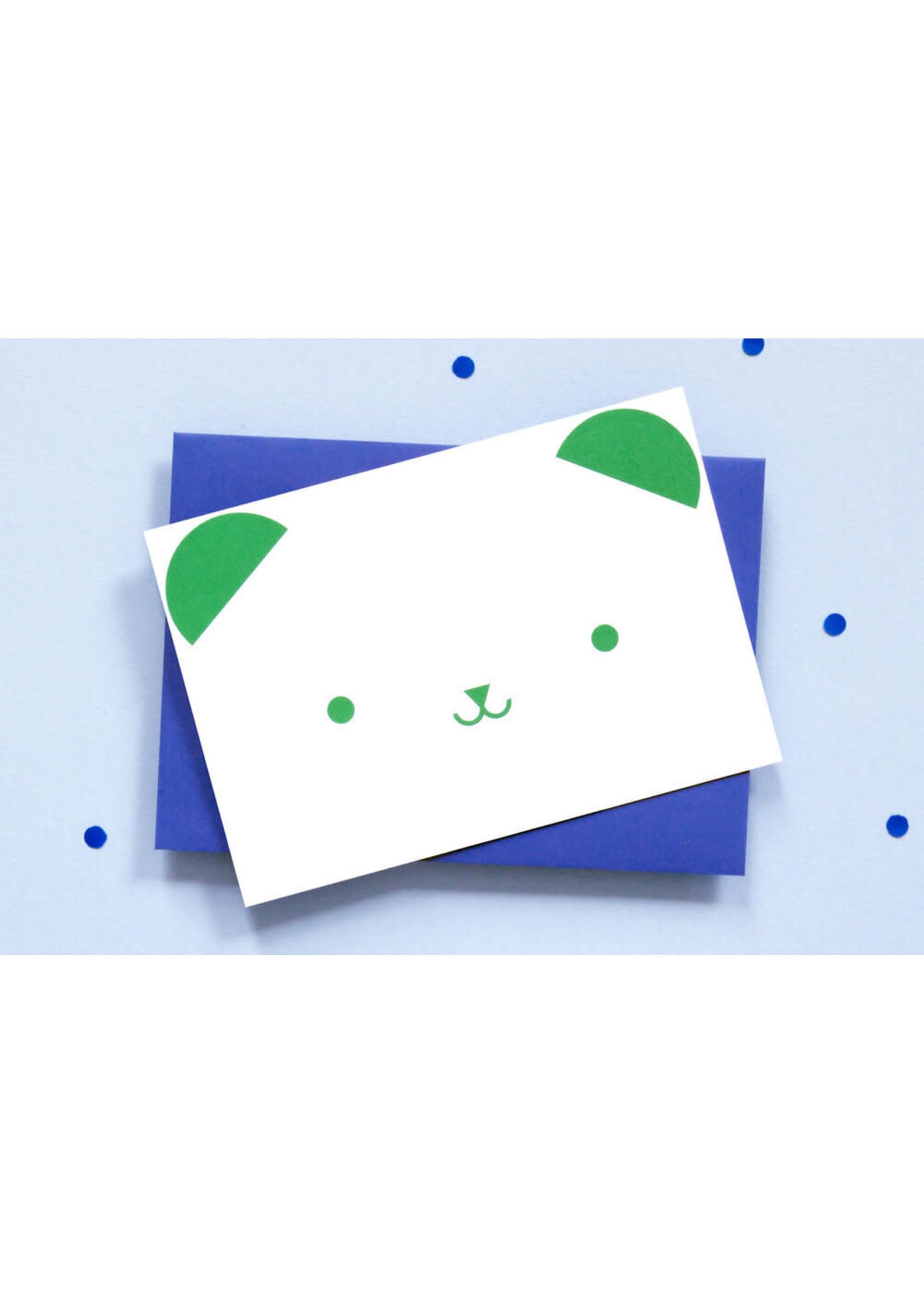Ola OLA jr Bear Greeting Card