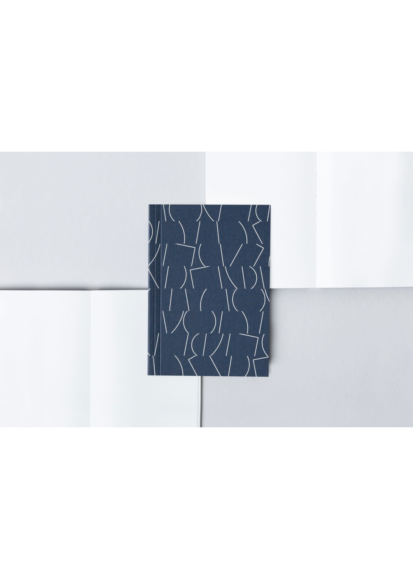 Ola Ola A6 Layflat Notebook - Sol Print in Navy/Plain pages
