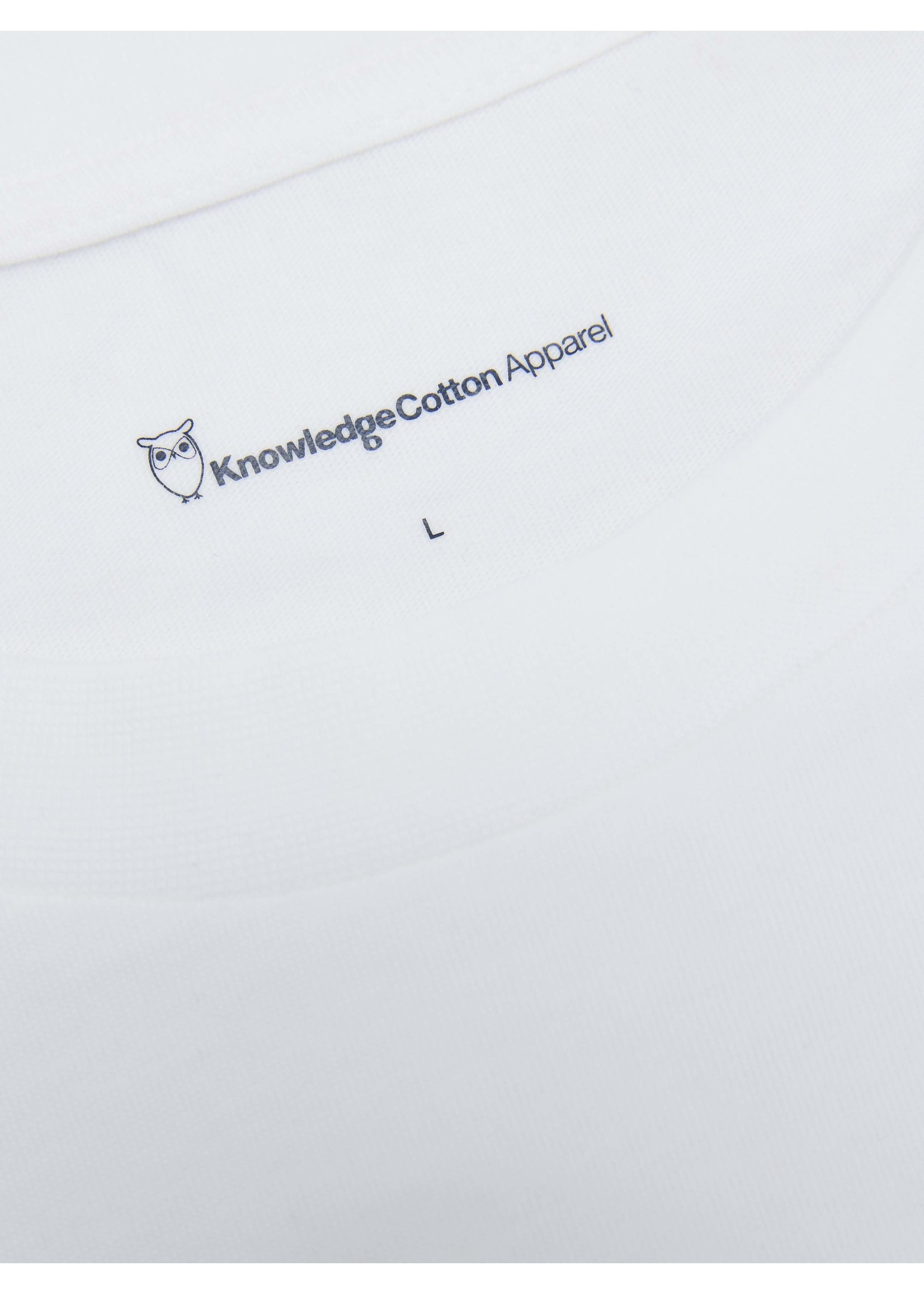 KnowledgeCotton KnowledgeCotton ALDER landscape printed on white tee