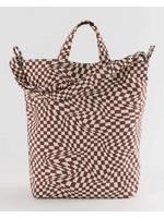 Baggu Duck Canvas Bag - Maroon Trippy Checker